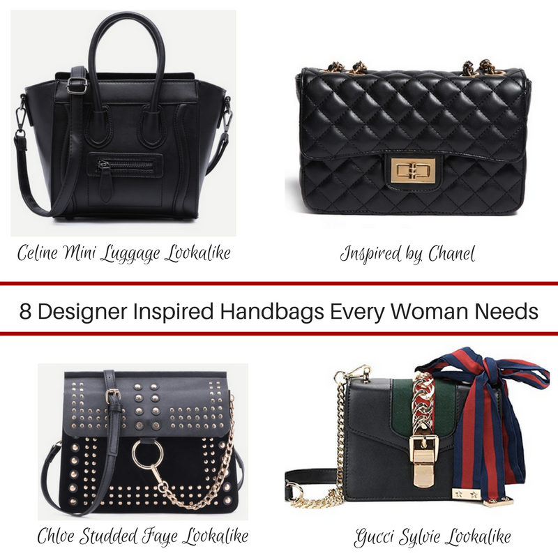 8 Designer Inspired Handbags Every Woman Needs