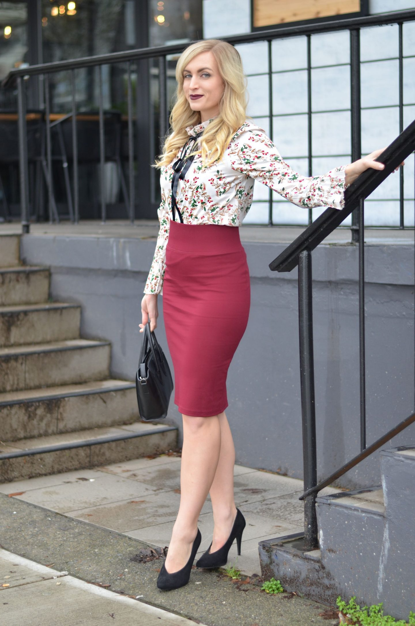 how to style a pencil skirt for the office