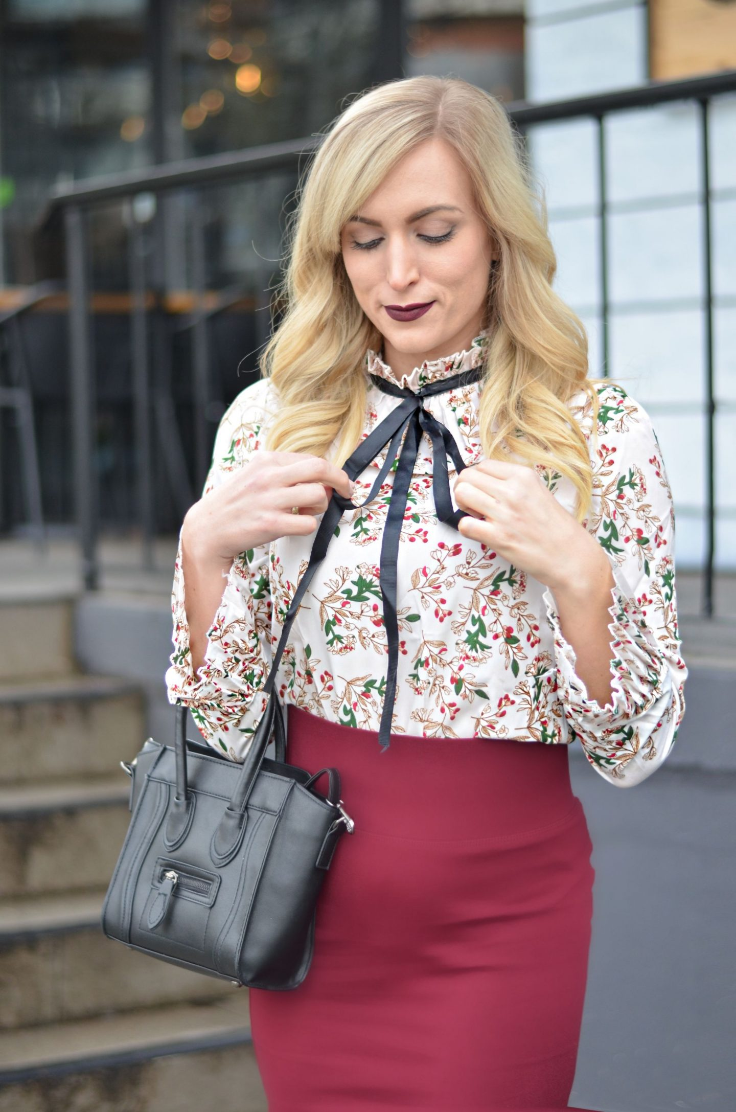 ribbon bow blouse