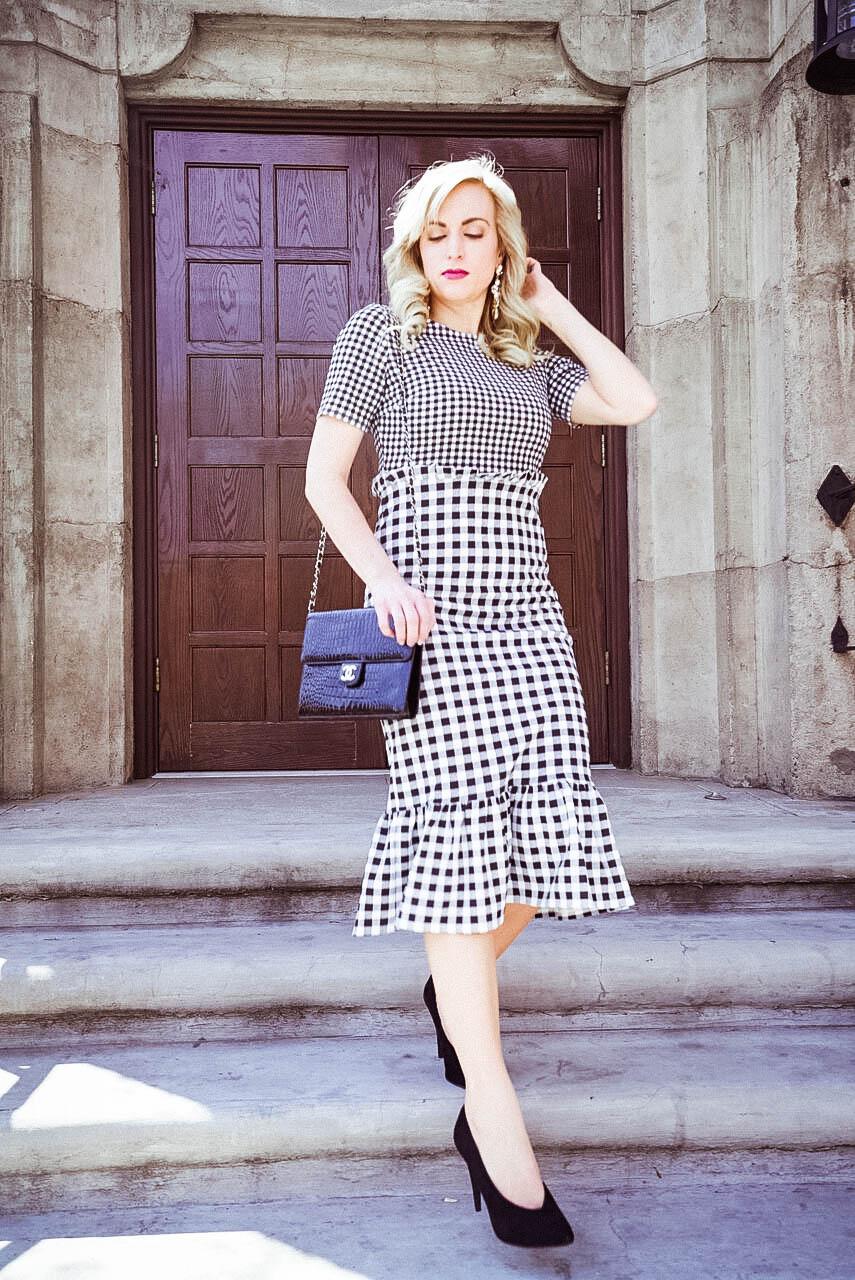 gingham print dress asos