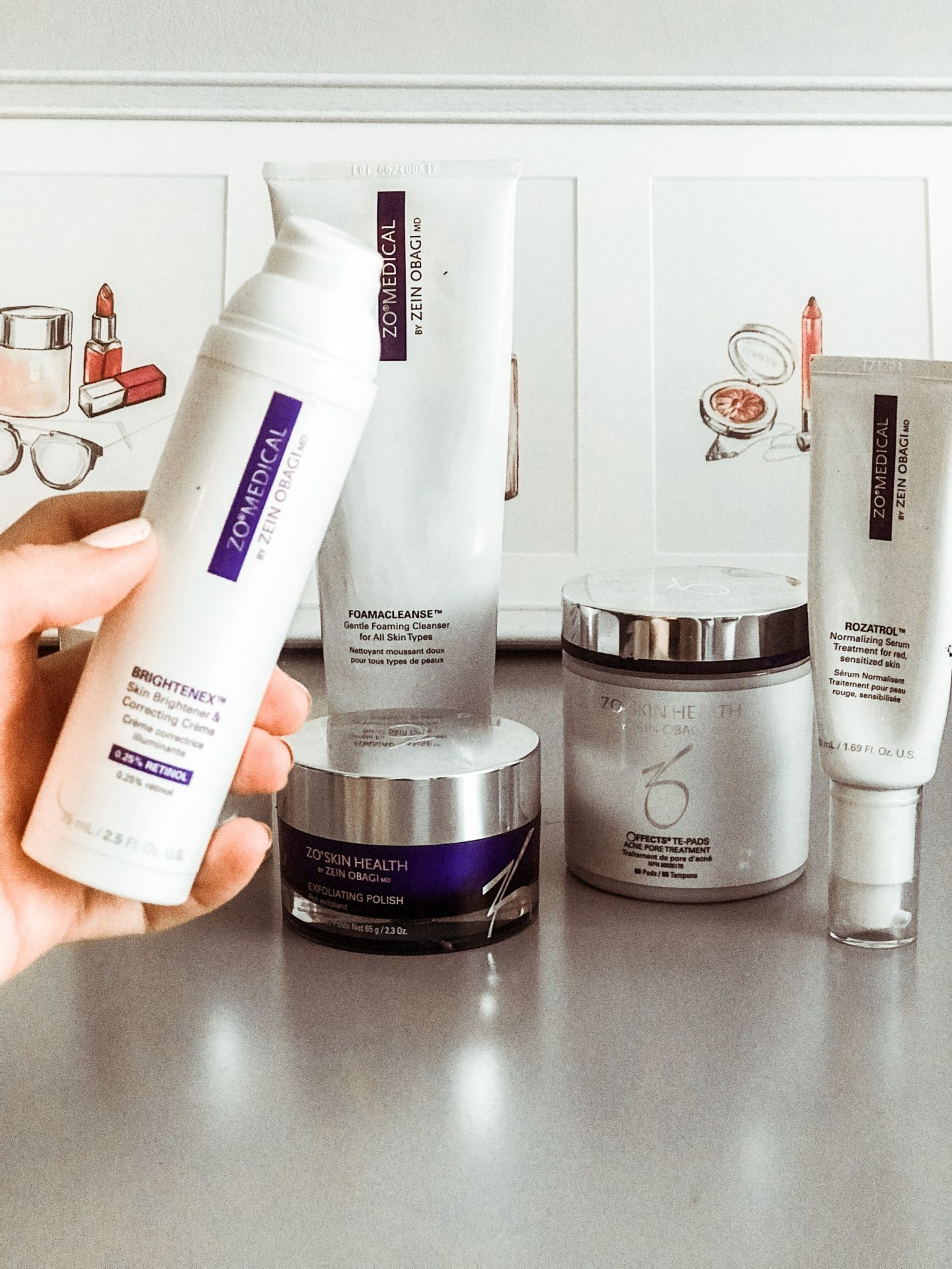 ZO Skincare products - Skincare Regimen for Mature Acne-Prone Skin