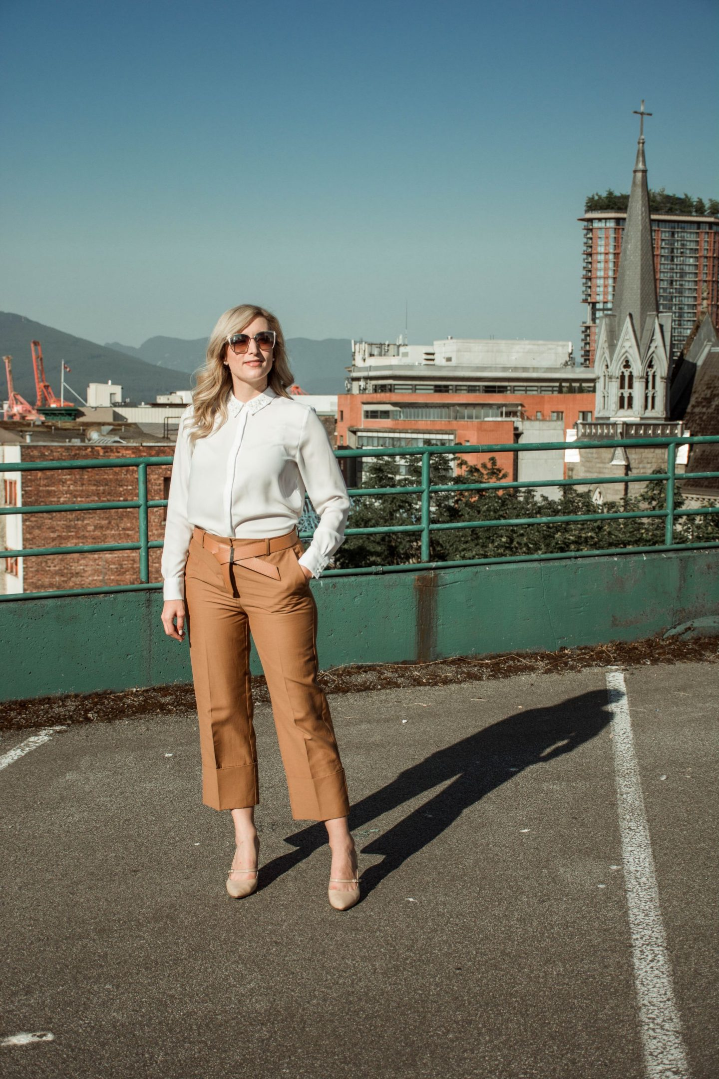 LegalLee Blonde how to wear culottes to work