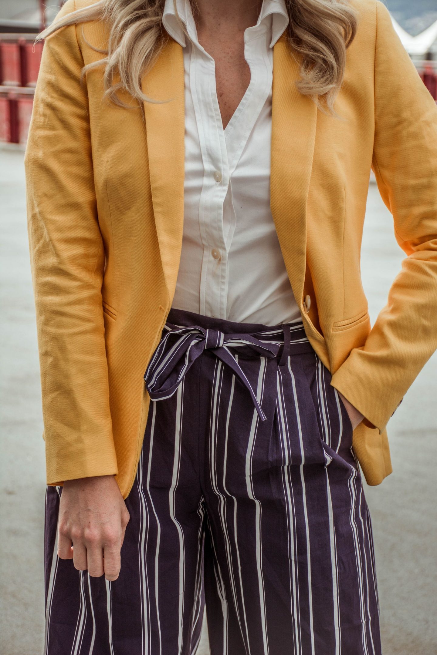 what to wear with a yellow blazer