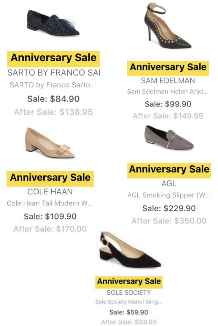 nordstrom anniversary sale sneak peek shoes