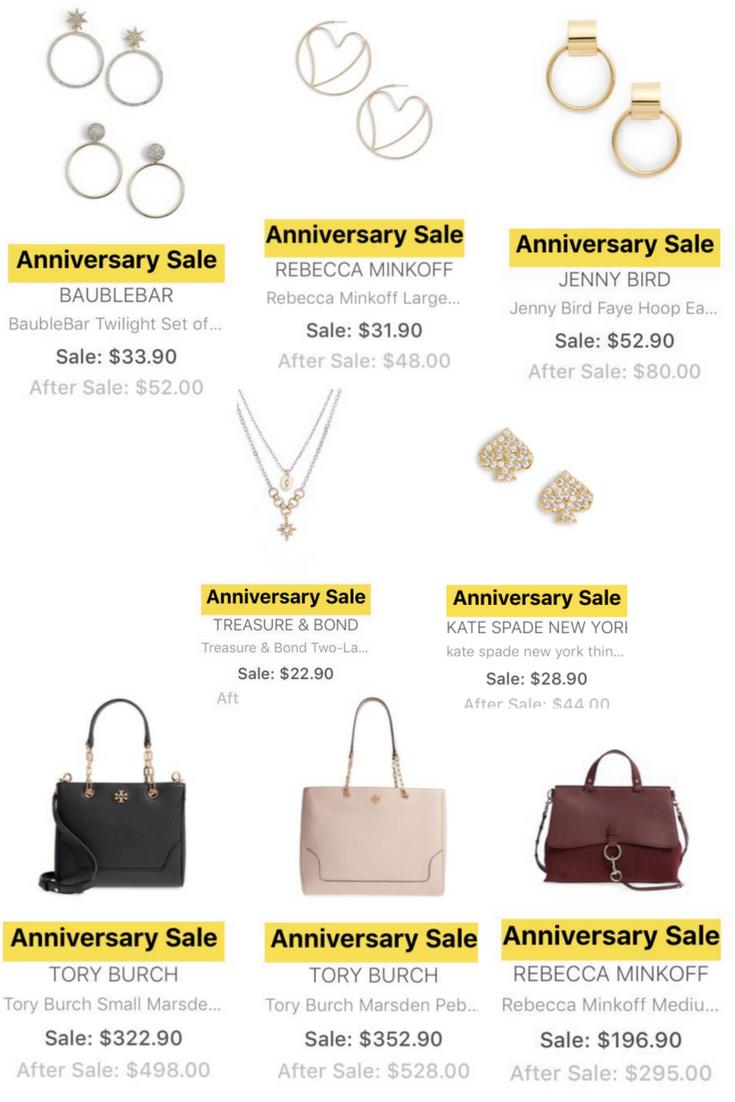 nordstrom anniversary sale sneak peek jewelry and handbags