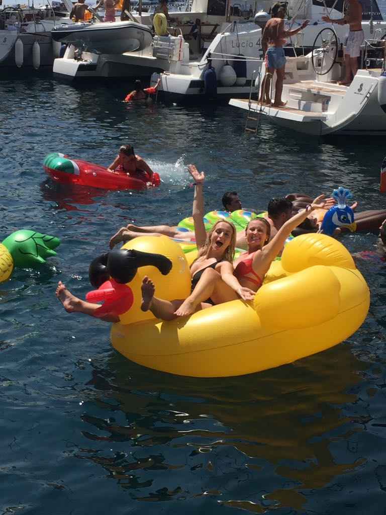 the yacht week montenegro review rubber duck floatie