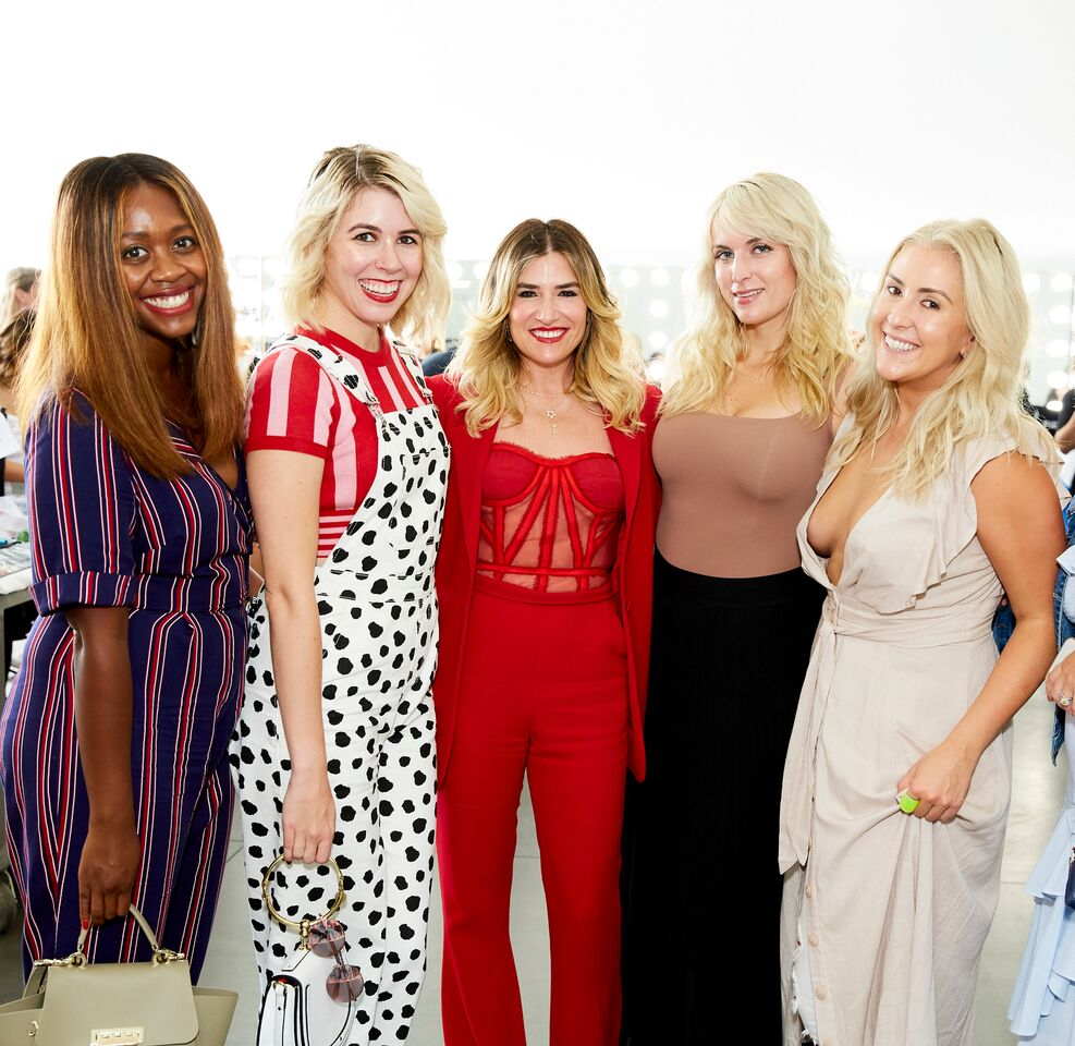 bloggers backstage at new york fashion week with alli webb