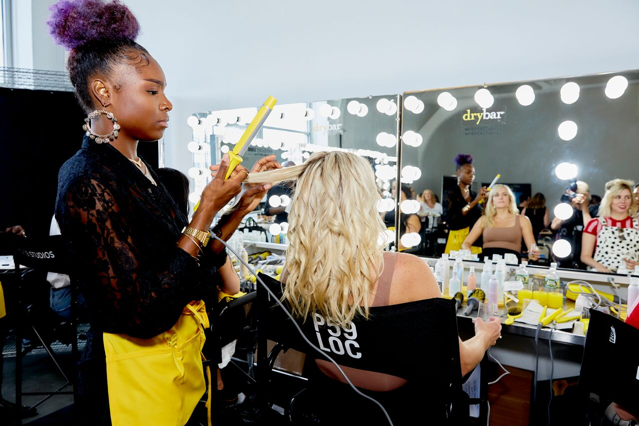 new york fashion week recap backstage with drybar
