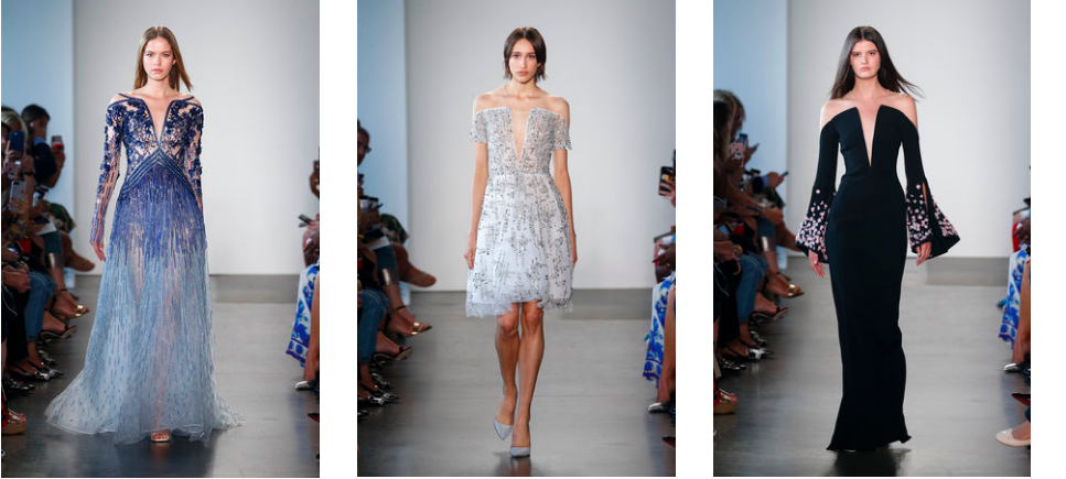 dresses from pamella roland's new york fashion week runway show. SS19 collection