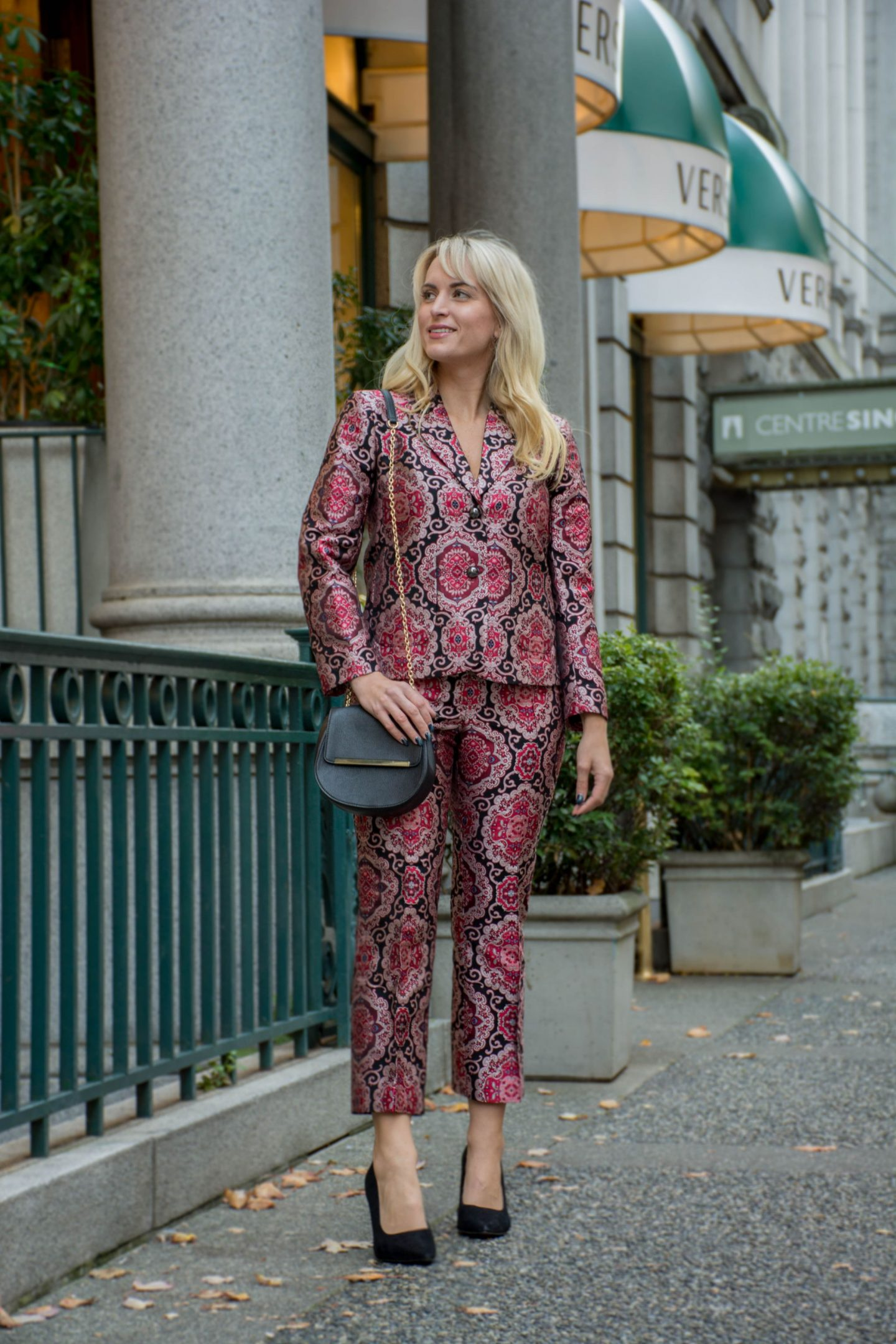 kate spade new york jacquard suit fall work wear