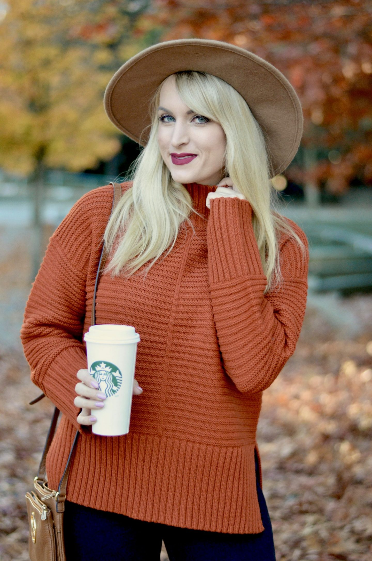 funnel neck sweater from topshop legallee blonde