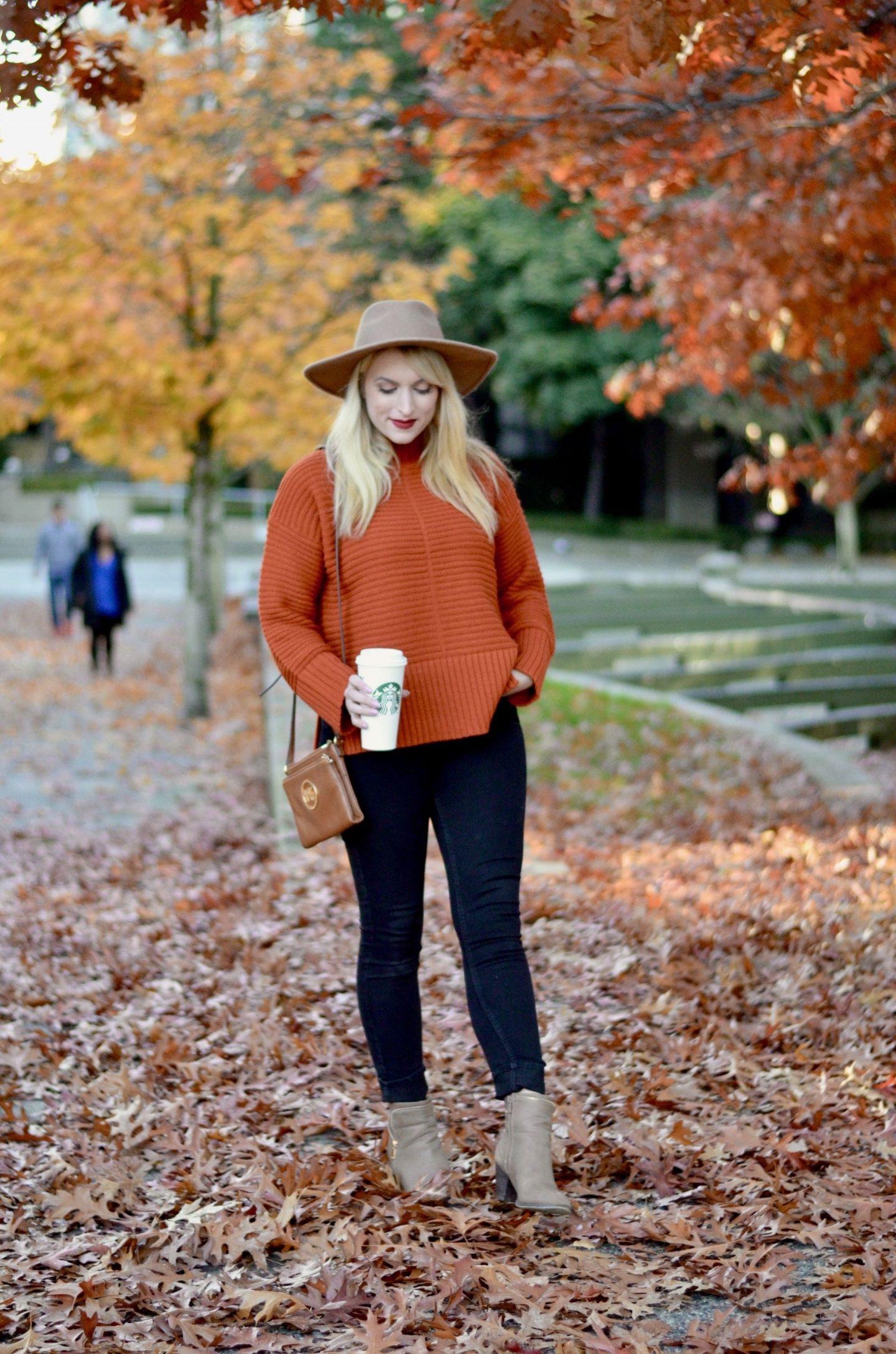 topshop burnt orange sweater