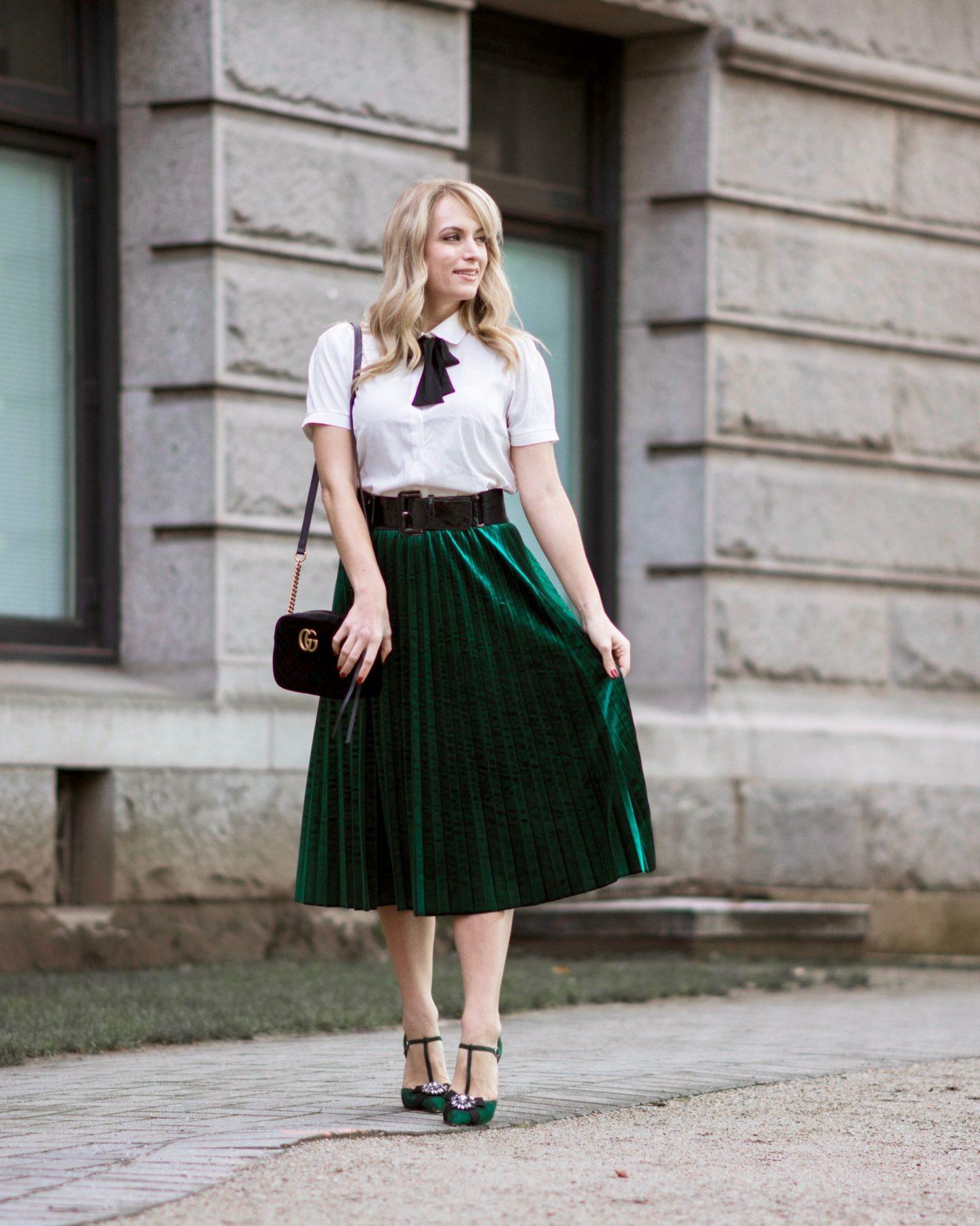 3312a21429 Velvet Midi Skirt & Random Facts About Me