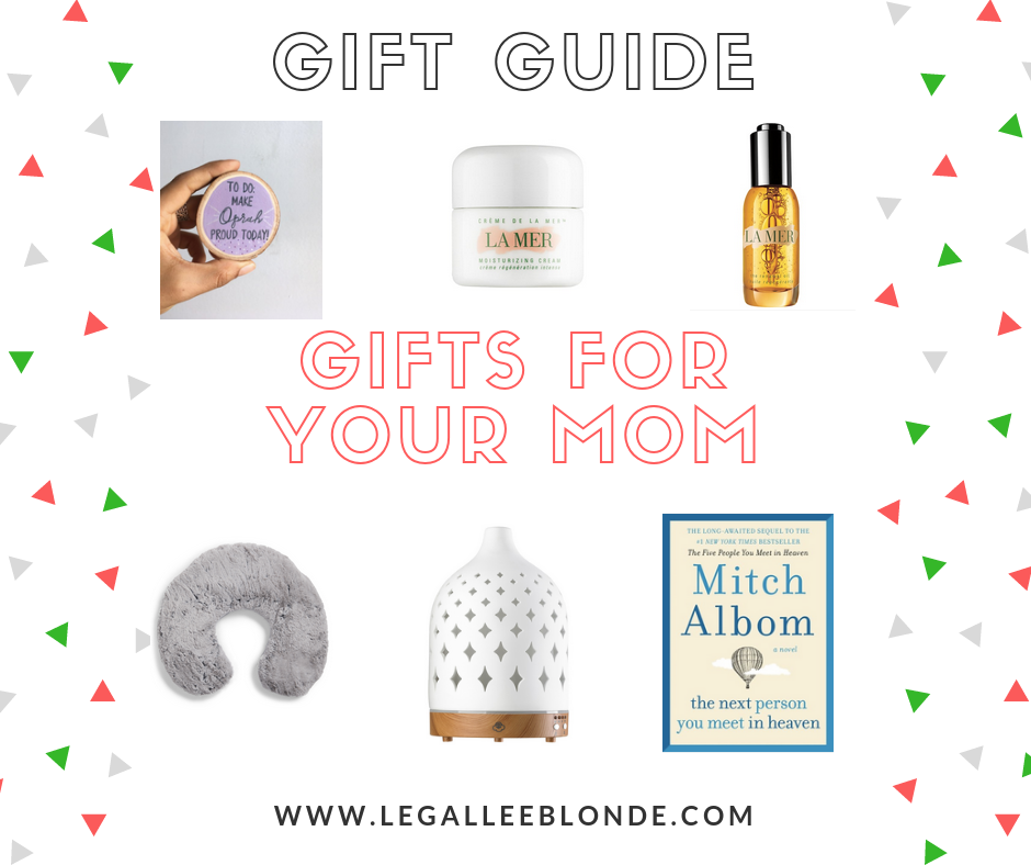 collage of gift ideas for your mom