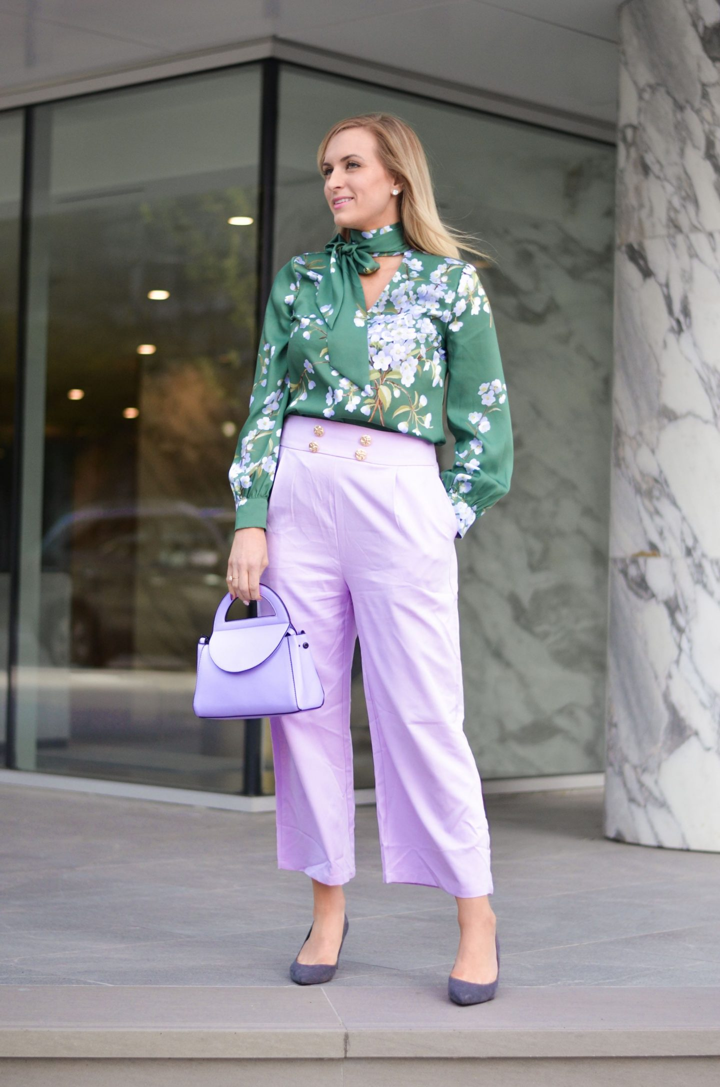 390759c1139 These culottes are an affordable fashion find that can easily be paired  with higher end pieces for a chic but modern spring outfit.