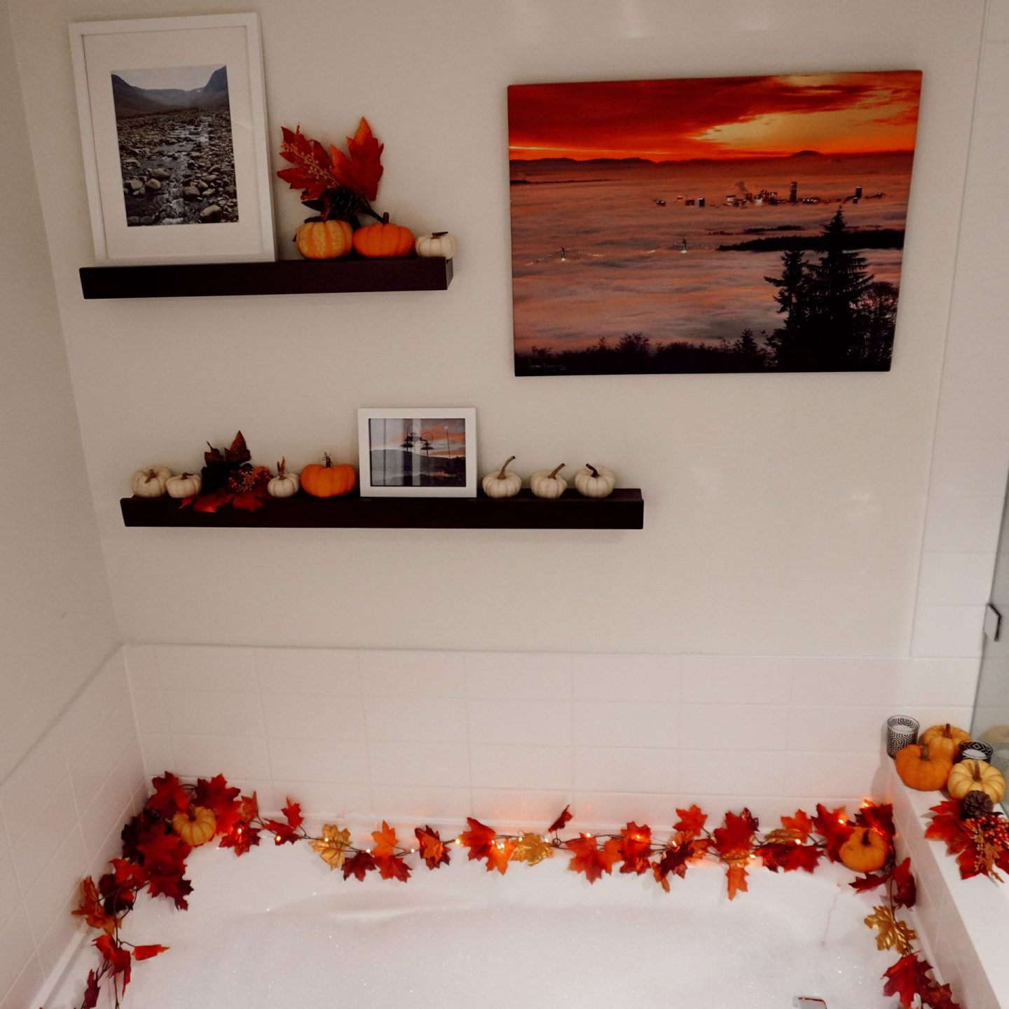 fall home decor for apartments bathroom