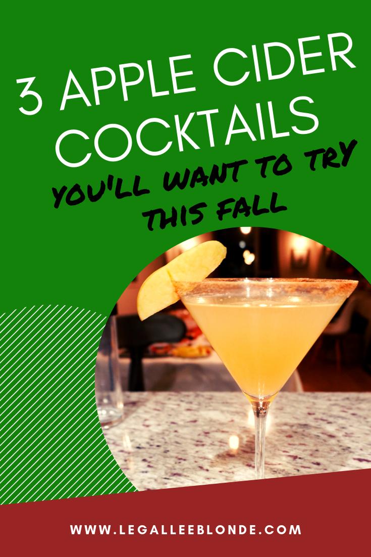 apple cider cocktails recipes