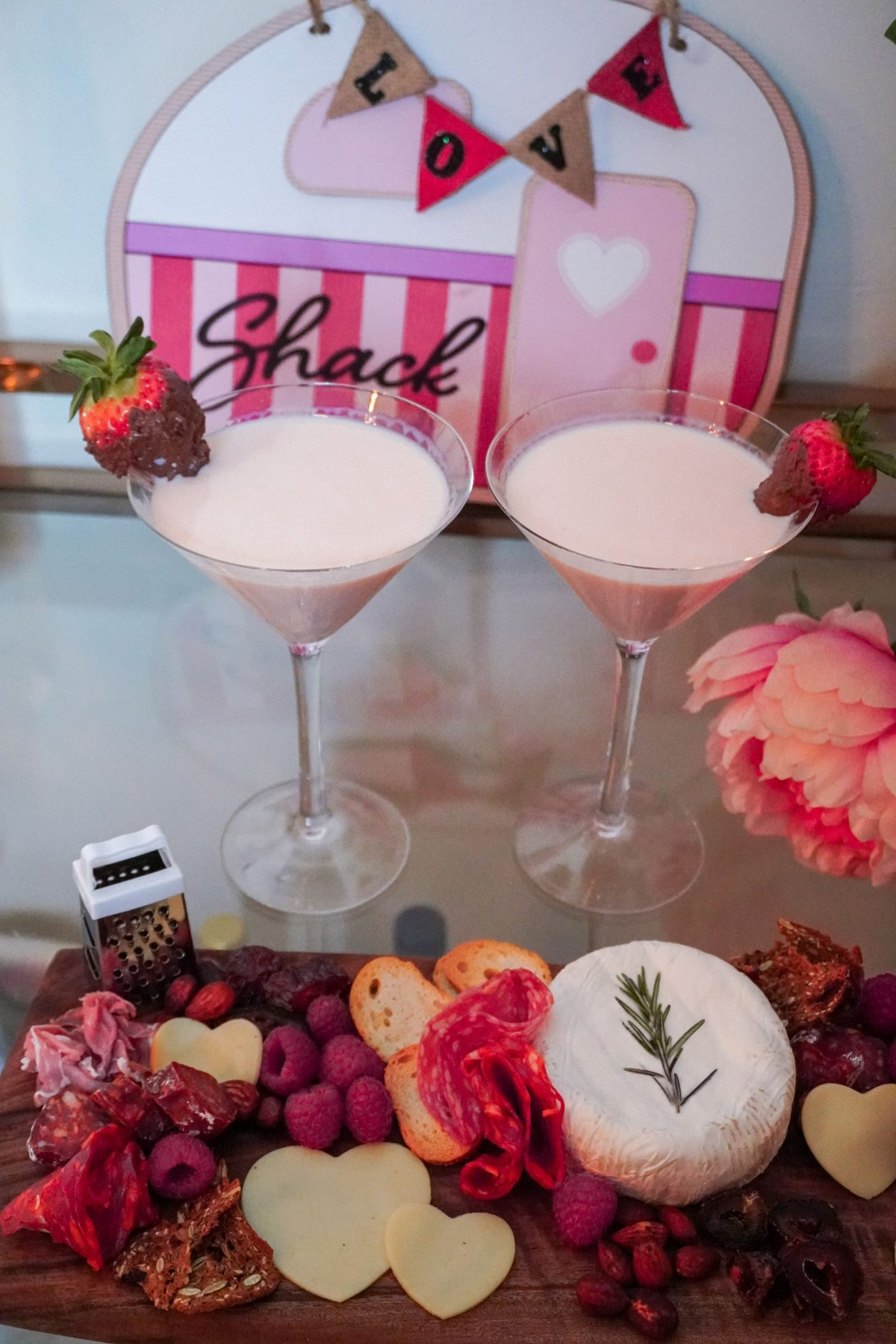 valentine's day chocolate strawberry cocktail