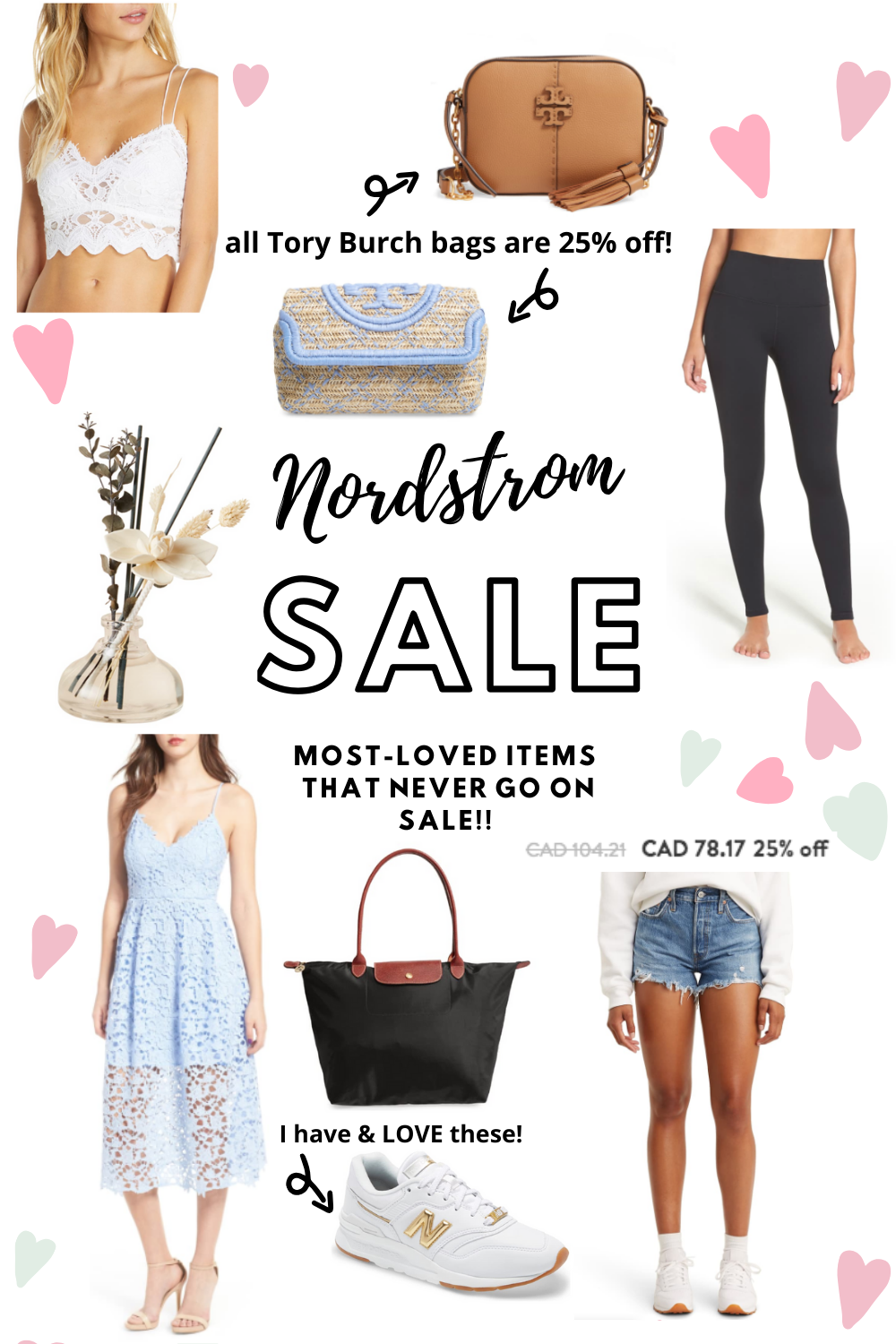 collage of nordstrom sale - most loved items