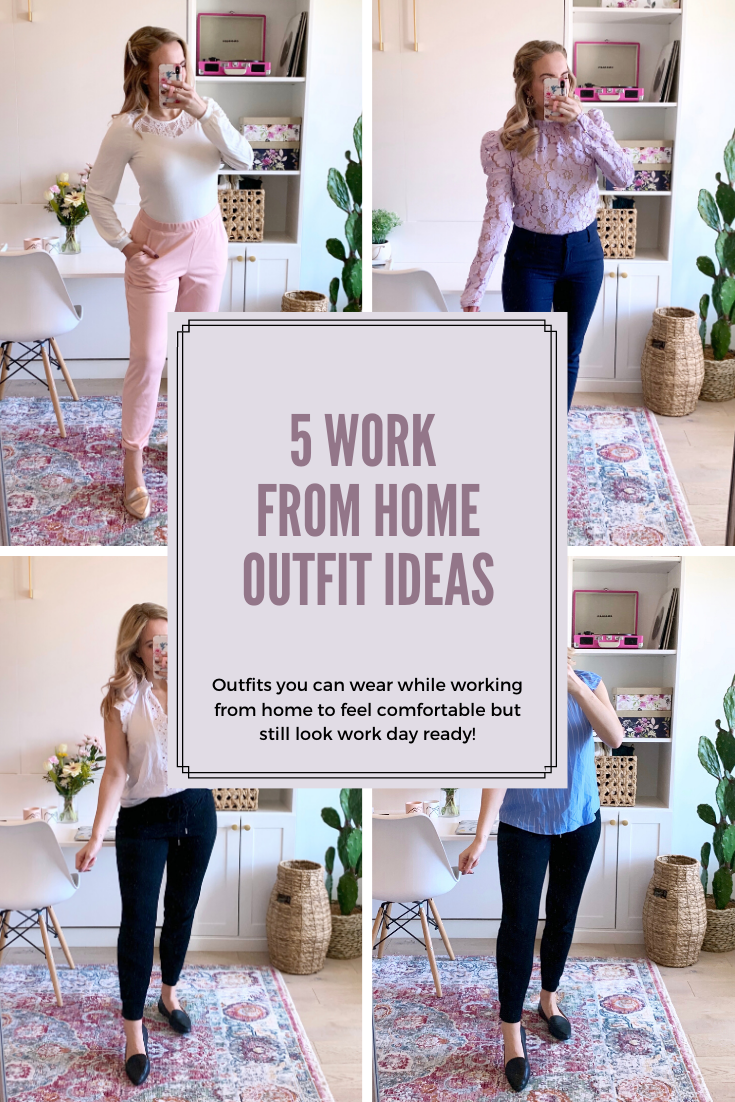 collage of work from home outfit ideas