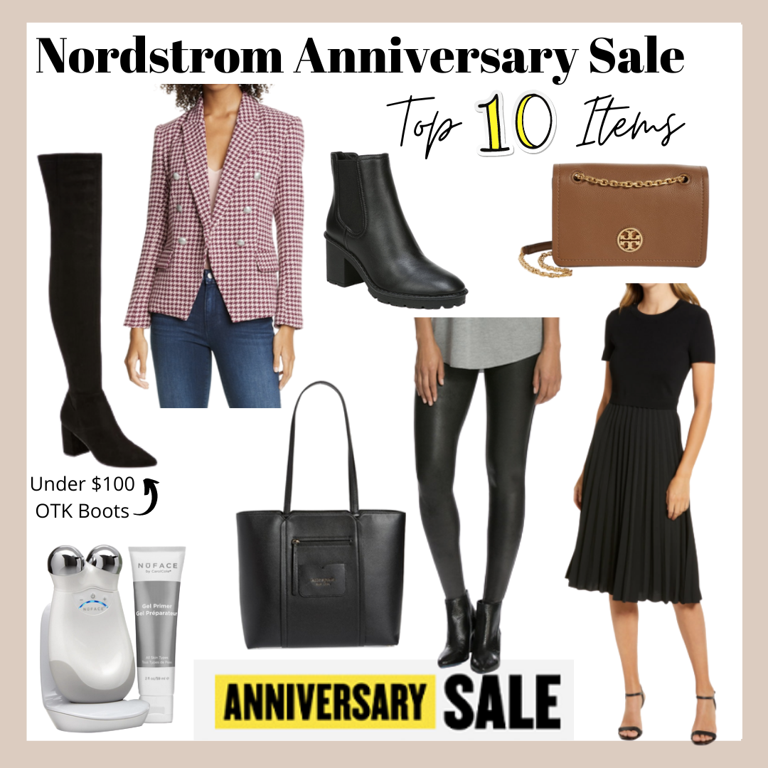 collage top 10 things to buy from the Nordstrom Anniversary Sale