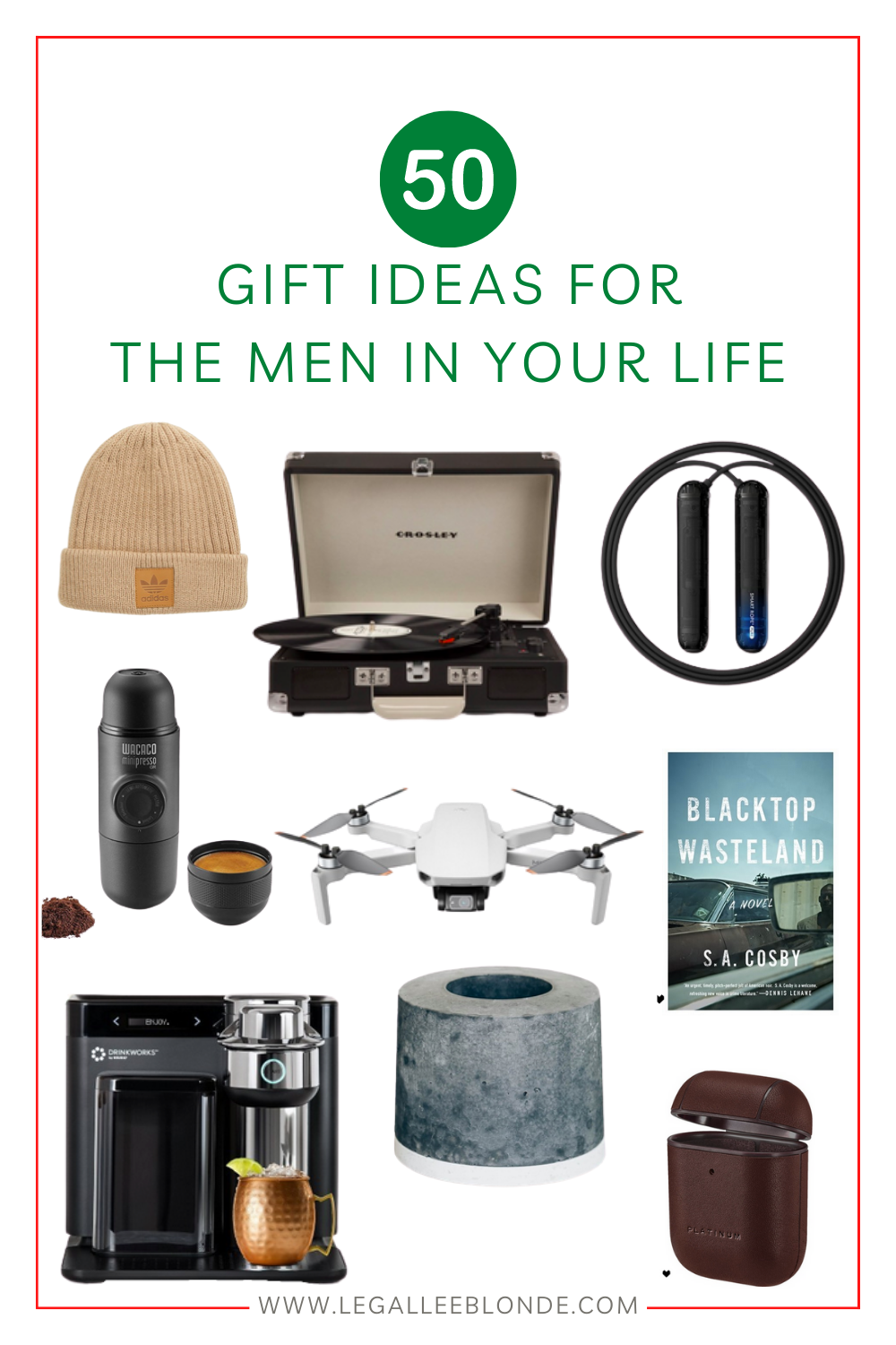 gift ideas for men collage gift guide