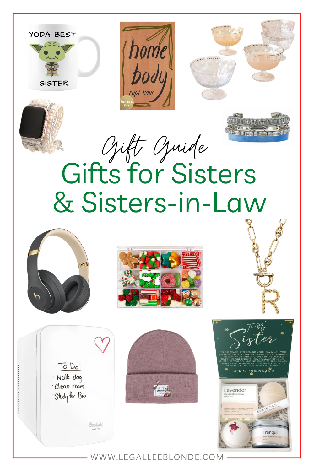 gift guide gift ideas for sisters collage