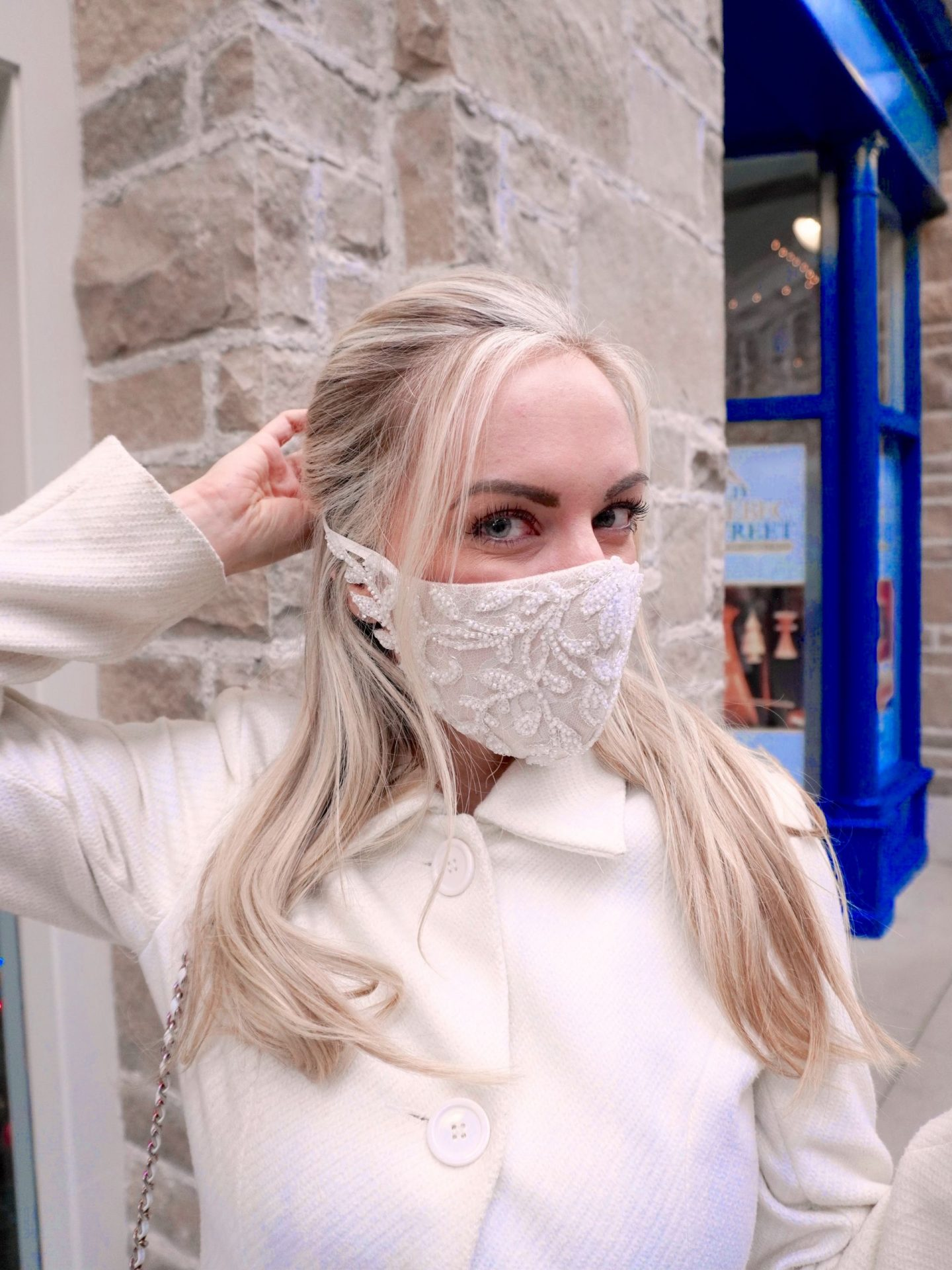 legallee blonde best fashionable face masks for winter