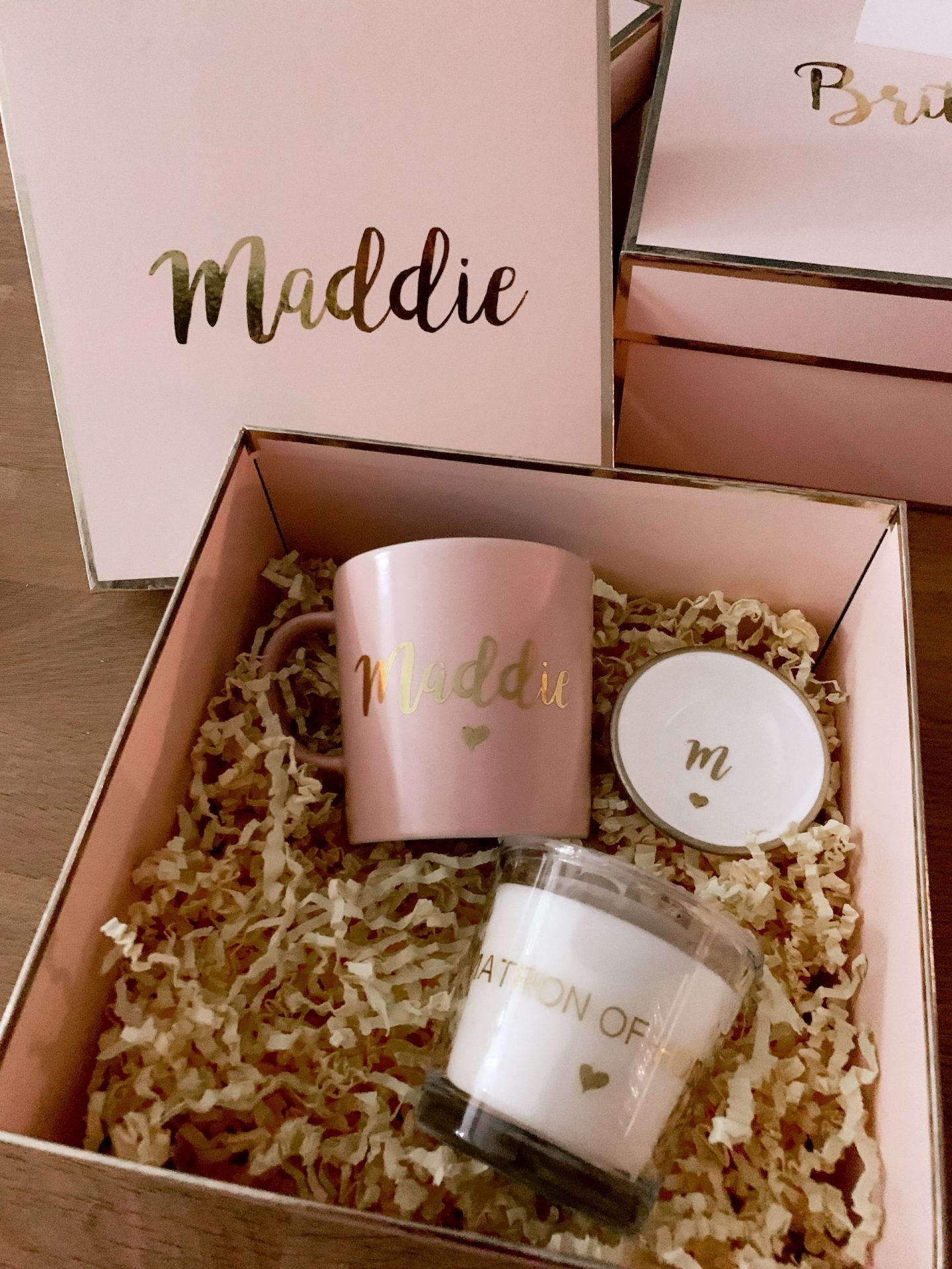 bridesmaid proposal gifts - personalized gift box