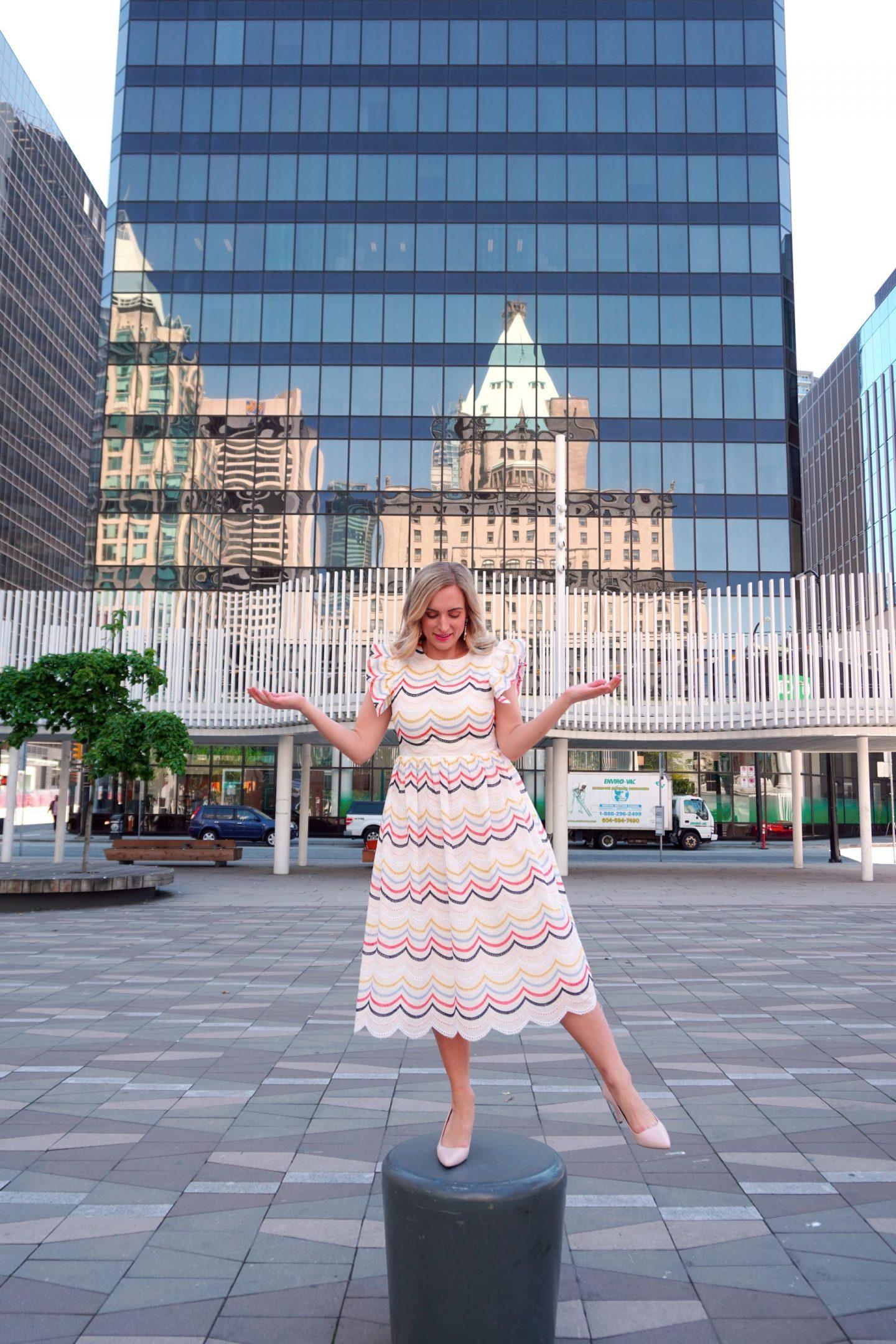 legallee blonde wearing an easter dress - 15 easter dresses under $100