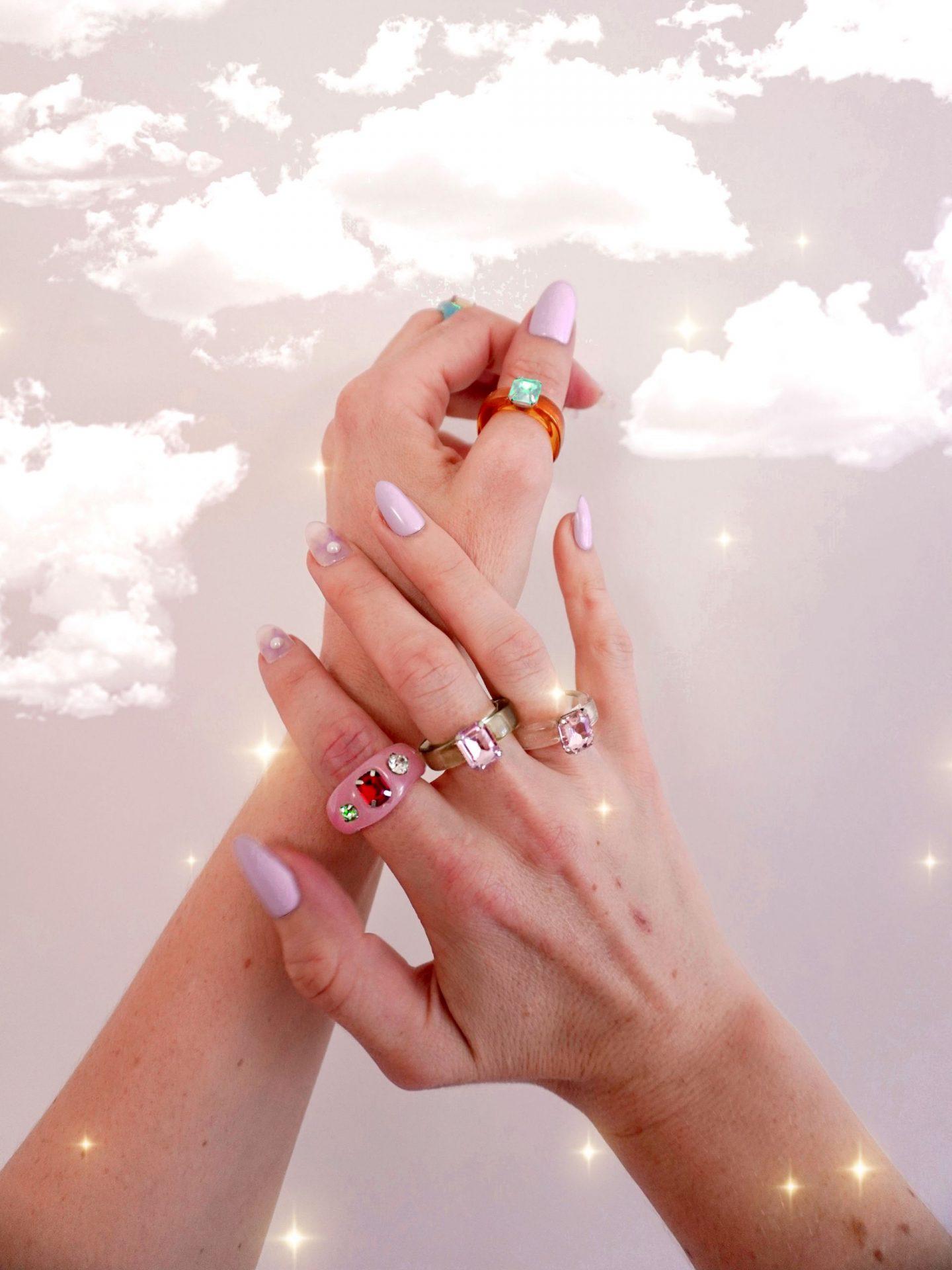 hands wearing amazon ring set celebs love them