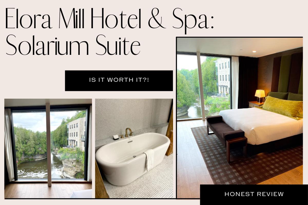 elora mill hotel & spa: solarium suite review
